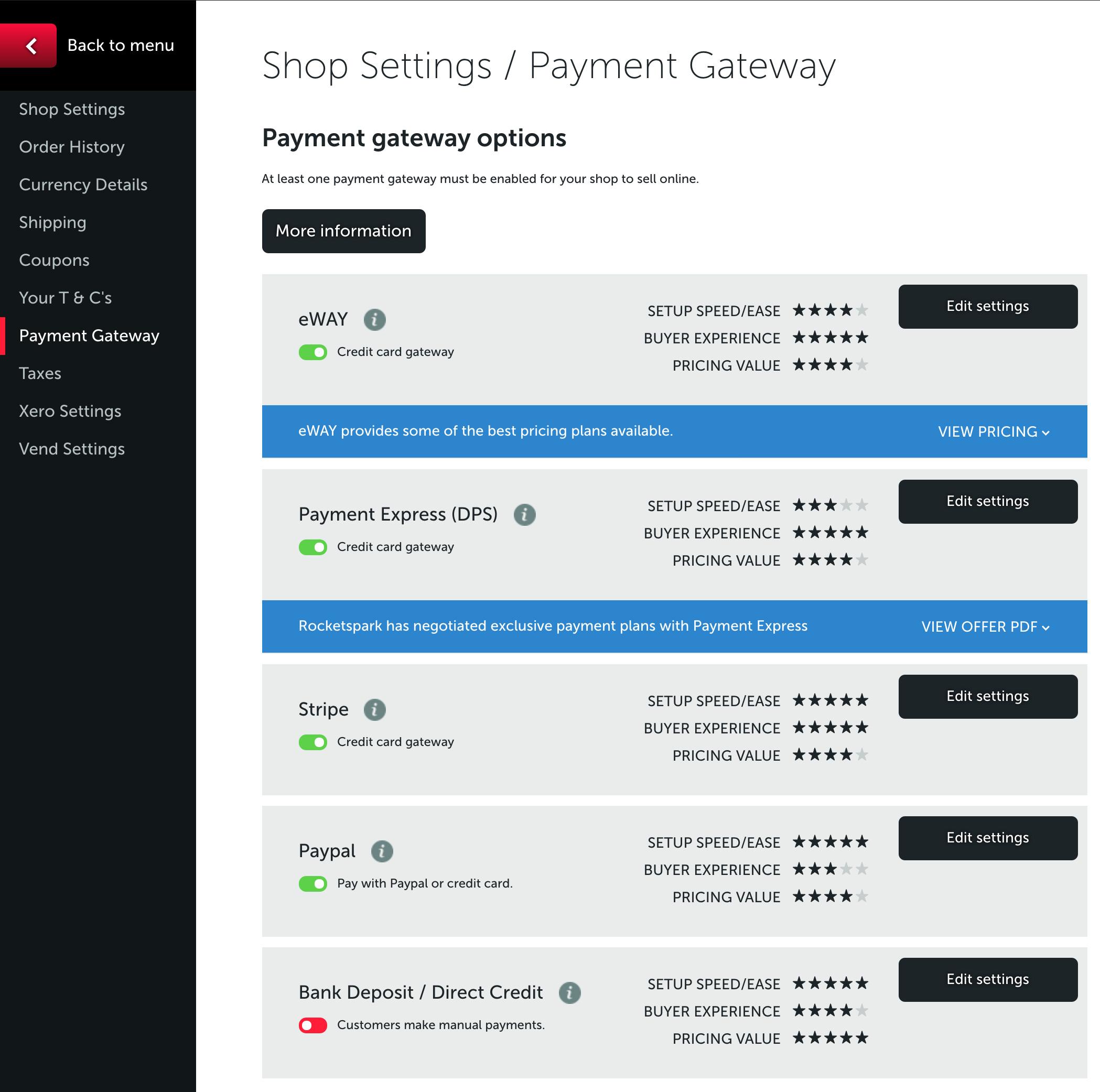 Setting up your Online Shop – Rocketspark